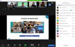 10월 12일 월요일 이스라엘 프로그램 'YOZMA WORKSHOPS'의 오리엔테이션이 온라인으로 이뤄지고 있다