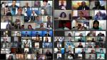 왼쪽 위부터 시계 방향으로 유럽, 아프리카, 오세아니아, 중남미 지역 선거 관계자들이 '2020 A-WEB 사무처' 웨비나에 참여해 의견을 나누고 있다