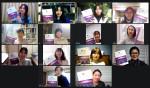 국제아로마테라피스트들이 도서녹음으로 목소리 재능기부를 하고 있다