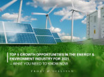 프로스트 앤드 설리번이 발표한 2021 에너지 및 환경 산업 Top 5 성장 기회 분석 보고서