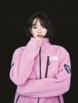 노스페이스 대표 친환경 제품 리모 플리스 재킷을 착용한 홍보대사 신민아