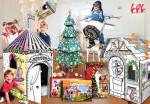FPF KOREA가 새롭게 출시한 FPF '크리스마스엔 집콕놀이' 종이집 장난감 5종