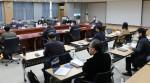 충남연구원 윤황 원장과 이인희 기획경영실장 등 연구실장 및 부서장, 센터장 등 30여명이 참석한 2021년 주요업무계획 보고회