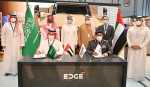아흐메드 A 알로할리 사우디 방위산업청장, 투르키 빈 압둘라 알-다크힐 UAE 주재 사우디 대사, 파이살 알 바나이 EDGE 상무이사 겸 최고경영자를 비롯해 양사 중역들이 협약식에
