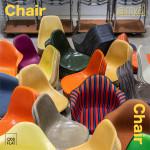 빈티지 가구 숍 오드플랫(ODDFLAT)이 서울 성수동 쇼룸에서 'Chair and Chair' 행사를 통해 300여 개의 다양한 임스체어를 전시, 판매한다