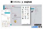 비즈니스 플랫폼 다우오피스 메신저 내 이모티콘 제공 화면