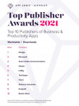캠 스캐너 소유주 인트 시그가 2021년 앱 애니, 최고의 퍼블리셔 어워드에서 탑 5 퍼블리셔로 선정됐다