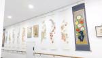 태안도서관 갤러리에서 전시 중인 한국전통민화 작품