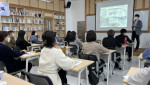 충남연구원 마을만들기지원센터가 제1차 광역 및 시군 중간지원조직 상근자 맞춤형 교육을 실시한 가운데 정석호 센터장이 강의를 하고 있다