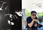 피아니스트 임인권이 월간 색소폰의 노상현 갤러리에서 포즈를 취하고 있다