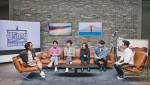 엔터테인먼트사 안테나 소속 뮤지션들이 웹 예능 '샘Song'을 촬영하는 모습. 왼쪽부터 정재형, 페퍼톤스 이장원/신재평, 권진아, 샘김, 유희열