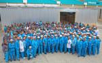 남아프리카공화국에 위치한 하이센스 시설의 생산 직원들