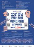 '2021 경남 관광 창업 아이디어톤' 공모 포스터
