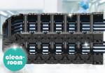 이구스의 새로운 클린룸 체인 C6 시리즈. 경량 설계와 높은 내마모성이 특징이다(출처: igus GmbH)