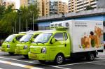 현대차그룹이 현대백화점, 콜드체인(저온유통체계) 물류대행사 팀프레시와 함께 전기트럭 기반의 차별화된 배송 서비스를 이달 말부터 10월까지 약 3개월 간 시범 운영한다