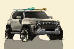 쌍용차가 공개한 KR10 디자인 스케치 정측면