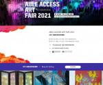 2021 장애인창작 아트페어 홈페이지 화면
