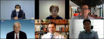 왼쪽 상단에서부터 시계 방향으로 정승철 연구위원(제주평화연구원), 민태은 연구위원(통일연구원), 강우창 교수(고려대학교), 최재동 교수(연세대학교), 스티븐 노퍼(코리아소사이어티)