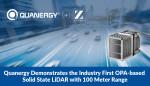 쿼너지, 업계 최초의 OPA기반 솔리드 스테이트 라이다 센서 탑재한 자동차의 100미터 운전 시연 성공