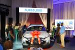 500만 번째 차량인 싼타크루즈를 모터쇼 형태로 공개하고 있다