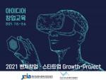 전남정보문화산업진흥원과 전남VR·AR제작거점센터가 '2021 벤처창업·스타트업 Growth-Project 창업교육 프로그램'을 진행했다