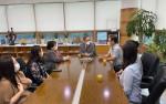 2021년 한-일 교원 및 고교생 온라인 위탁용역 간담회가 열리고 있다