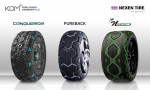 넥센타이어가 공개한 미래 콘셉트 타이어 3종