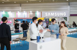 KES 2021에 참가한 삼성전자의 '팀 삼성 스튜디오' 부스