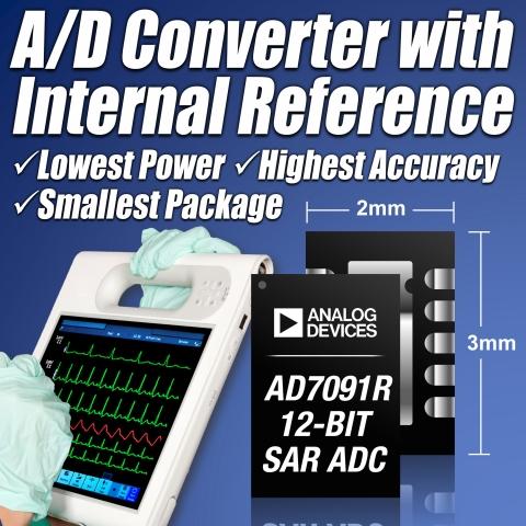아나로그디바이스(www.analog.com, NASDAQ: ADI)는 오늘 내부 2.5V 레퍼런스 회로를 통합한 초저전력 12비트 1MSPS(1-Mega sample per sec...