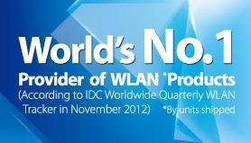 2012년 11월 IDC WLAN 출하량 부문 1위