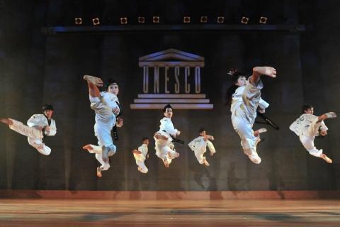 2012년 4월 23일 유네스코 초청 공연 모습