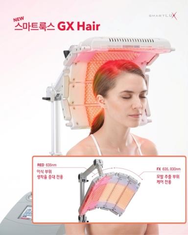 메드믹스는 10월 탈모치료 전문 광치료 장비 스마트룩스 GX Hair를 출시한다.