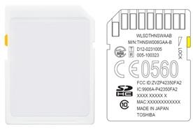 도시바, 비즈니스제품 개발자 위해 무선 LAN통신 내장형 SDHC 메모리카드 출시