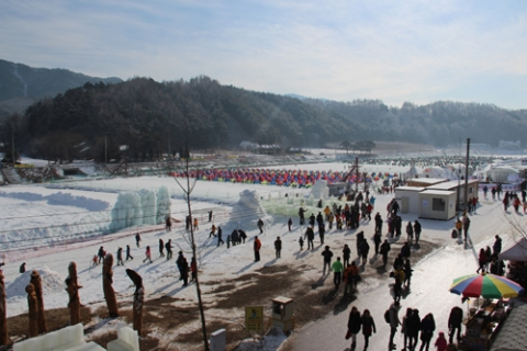 제8회 평창송어축제는 2월 8일까지 개최된다.