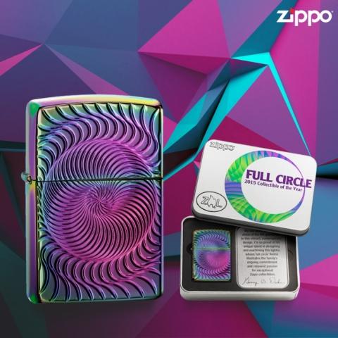 지포(Zippo)가 지포 팬 및 수집가들을 위한 2015 올해의 지포 라이터-풀서클(Full Circle) 한정판 라이터를 공개했다.