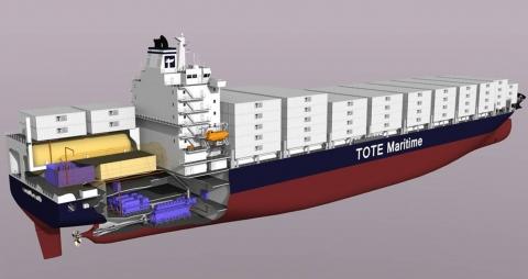 대우조선해양 고압 천연가스 연료공급장치의 탑재 조감도