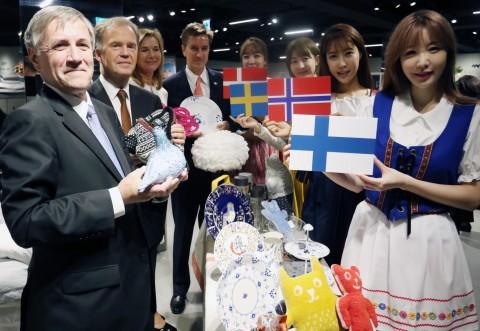 신세계 강남점이 19일부터 23일까지 북유럽 라이프스타일 페어를 열고 백화점 전체를 북유럽 스타일로 꾸민다