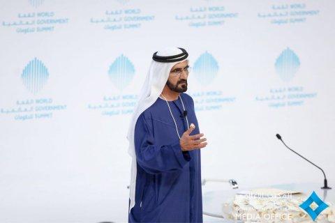 두바이 국왕 셰이크 모하메드 빈 라시드 알 막툼이 월드 거번먼트 서밋에서 글로벌 지도자와 전문가를 환영했다
