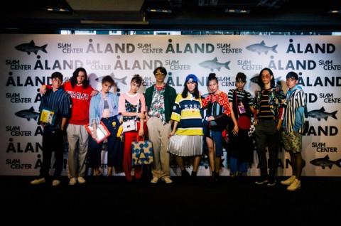 에이랜드가 방콕 시암센터 2층에 에이랜드 태국점을 오픈했다. 사진은 에이랜드 제품을 착용한 패션쇼 현장