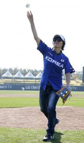 LG배 한국여자야구대회가 개막했다