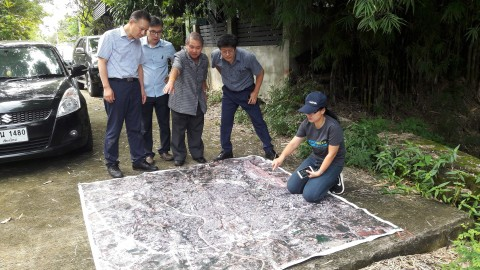 태국 치앙마이 주 환경부 담당국장과 세중아이에스 임원들
