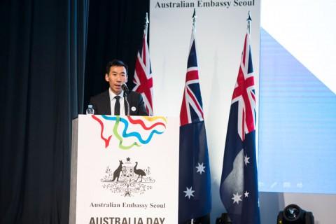 2016년 주한 호주상공회의소 비즈니스 어워즈에서 제임스 최 주한 호주 대사