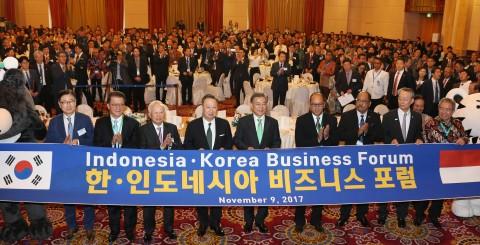 대한상공회의소가 인도네시아상공회의소와 공동으로 9일 오후 인도네시아 자카르타에서 한-인도네시아 비즈니스 포럼을 개최했다