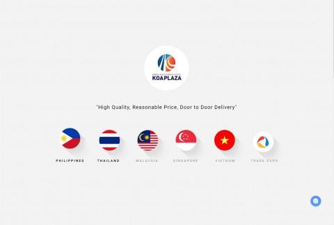 에코와이즈가 한국 기업을 위한 동남아시아 배송·결제·고객 상담 서비스 지원한다. 사진은 한·아세아 해외 직판몰 메인 화면