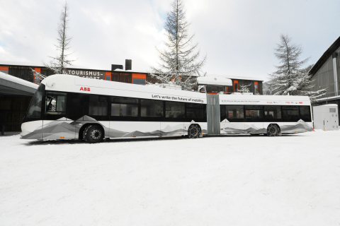 ABB flash-charging station in Davos