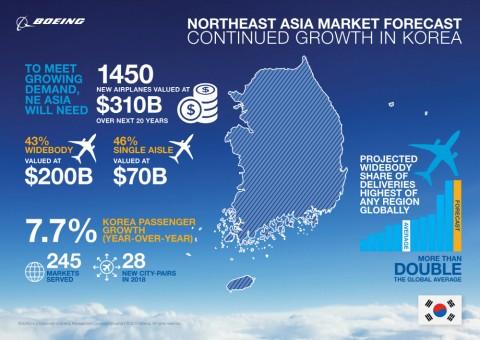 보잉 저비용 항공사가 국내 승객수송력 이끌 것으로 전망