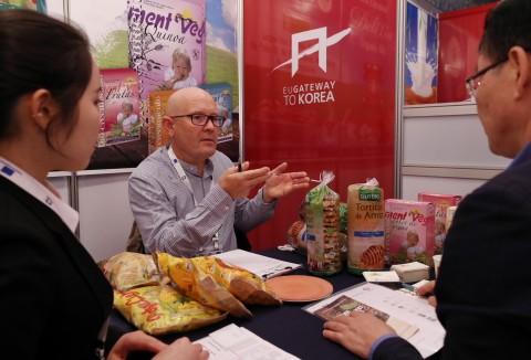 2017년 EU 유기농 식품 및 음료 전시상담회 현장