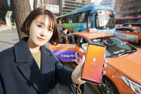 SK텔레콤이 티맵 택시가입 택시 기사 10만명을 확보했다고 밝혔다