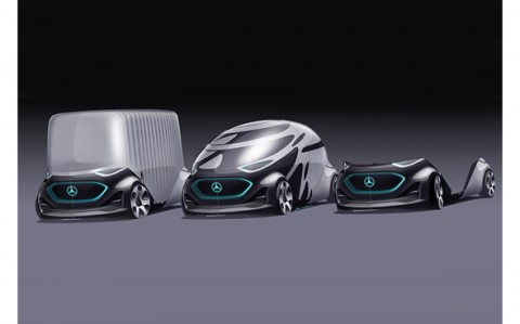 One of Private mobility finalist for Future Mobility of the Year 2019: Concept car Mercedes Vision U...