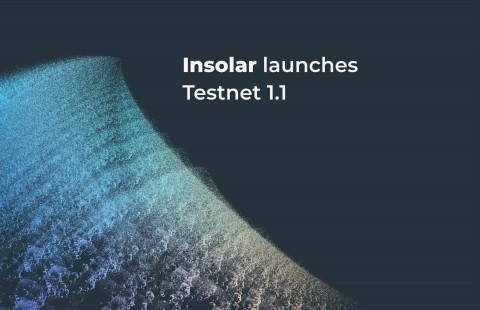 인솔라가 자사의 블록체인 플랫폼 테스트넷 1.1을 개시한다